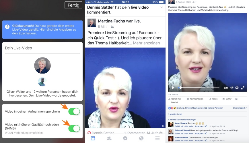 Facebook Livestreaming Teil 3