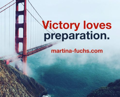 Martina Fuchs Victory loves preparation