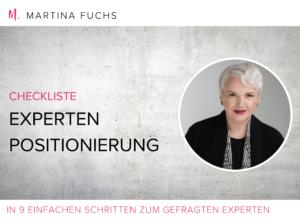 Checkliste Experten Positionierung Martina Fuchs